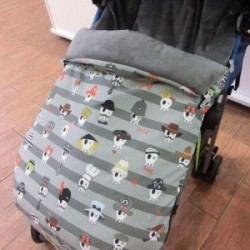 Saco silla universal Kiwisac Calavera rayas