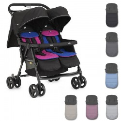 PACK silla paseo gemelar Joie AIRE TWIN con sacos