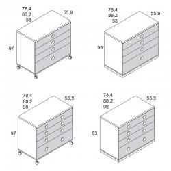 Cómoda 4 cajones Ros Mini BASIC