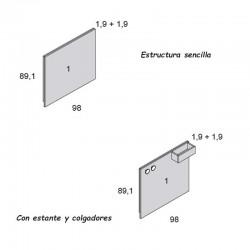 Pizarra rectangular Arco Iris de Ros MIni