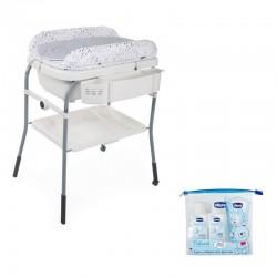 PACK  Bañera Chicco CUDDLE&BUBBLE con set de higiene