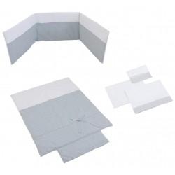 Pack textil 3 piezas Micuna para Cuna (60 x 120 cm.) Nature Nórdico + Protector de Cuna + Juego de Sábanas