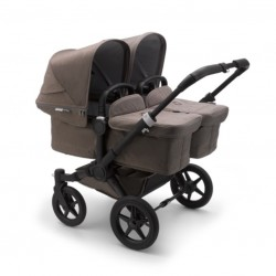Cochecito Gemelar Bugaboo DONKEY 3 TWIN Mineral Completo Negro/Taupé