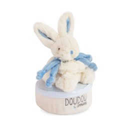 Caja de música conejito azul 17 cm DouDou et Compagnie