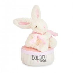 Caja de música conejito rosa 17 cm DouDou et Compagnie