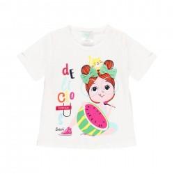 Camiseta punto Boboli niña y gato