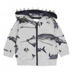 Chaqueta felpa Boboli tiburones