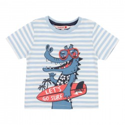 Camiseta punto Boboli listada