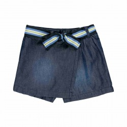 Falda-short denim Boboli