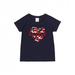 Camiseta punto flamé Boboli corazón
