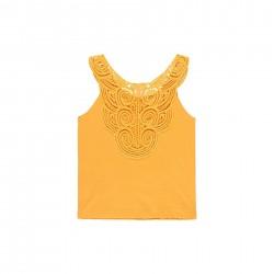 Camiseta punto Boboli con puntilla