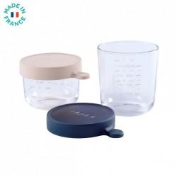 Pack 2 tarritos de cristal Beaba 150 ml y 250 ml