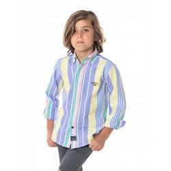Camisa Spagnolo cuello boton oxford polo 4123
