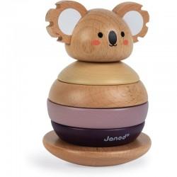 Muñeco apilable Janod de madera Koala