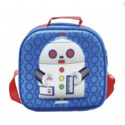 Mochila Q Play porta meriendas Robot