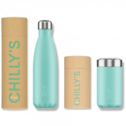 PACK colección PASTEL Botella Chilly's y Termo de solidos Chilly's