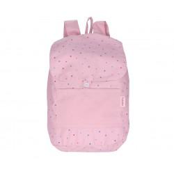 Mochila Tutete Grande Tela Dots Pink Personalizable