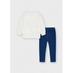 Conjunto leggings Mayoral knit denim