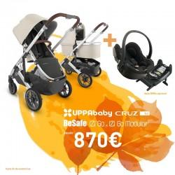 PACK TRIO Uppababy CRUZ V2 con IZI GO Modular