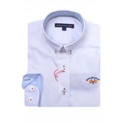 camisa gabardina spagnolo elastano boton 4525