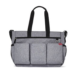 Bolso Gemelar Skip Hop Double Signature Heather Grey