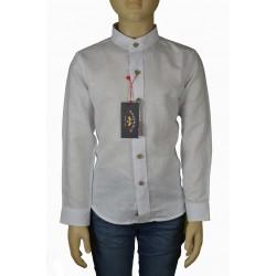 Camisa Spagnolo lino cuello mao