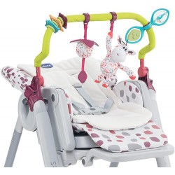Barra de juego y reductor textil Polly Progress Chicco
