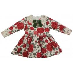 Vestido Nini Flores Rojas