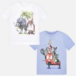 Set 2 camisetas m/c Mayoral animals