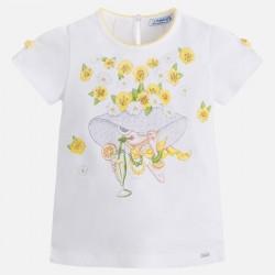 Camiseta m/c Mayoral mangas lazos