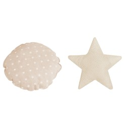 Pack cojín redondo + cojín estrella MICUNA TX-1843 GALAXY