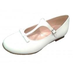 Zapato Landos piel sedalina blanco