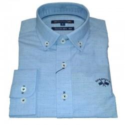 Camisa Spagnolo cuello boton fil a fil estampada 4640