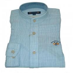 Camisa Spagnolo cuello mao hilo rayas 4600