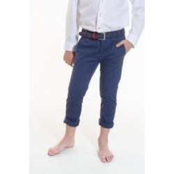 Pantalon chino Spagnolo basico Piping gab elast 4778