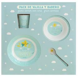 Set vajilla mr wonderful con babero y vaso by Laken