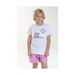 Camiseta Spagnolo barco estampado 4043