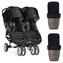 Silla gemelar Baby Jogger CITY MINI con sacos originales