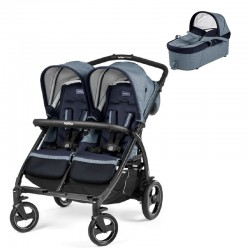 PACK Silla paseo gemelar Peg Perego Book for Two con capazo