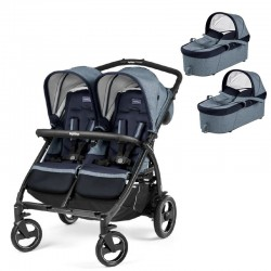 PACK Silla paseo gemelar Peg Perego Book for Two con 2 capazos