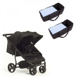 PACK Silla gemelar Baby Monster Easy Twin 3S con capazos blandos y apoyabrazos