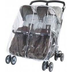 Plástico de lluvia Aria Twin Peg Perego para silla gemelar