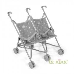 Silla gemelar La Nina Mini Gaby (49x53x41 cm)