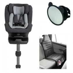 PACK Silla Auto Nuna REBL PLUS I-Size 360º Rotatoria con accesorios acontramarcha