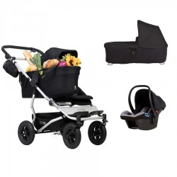 PACK HERMANOS SEGUIDOS + AUTO + JOIE BAG Mountain Buggy Duet 3.0