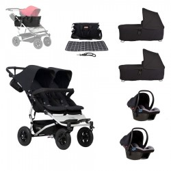 PACK GEMELOS + AUTO + Cesta JOIE BAG Mountain Buggy Duet 3.0