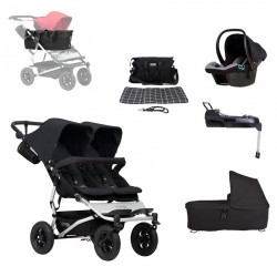 SUPERPACK HERMANOS SEGUIDOS + FIX + AUTO + Cesta JOIE BAG Mountain Buggy Duet 3.0
