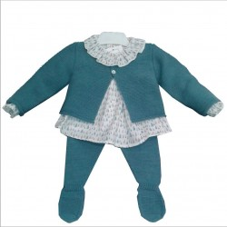 Conjunto blusa, polaina y chaqueta Babydif Falla