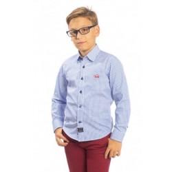 Camisa Spagnolo cuello boton popelin estampada 4640