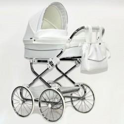Cochecito para bebe Reborn Bytax ELITA 9 Blanco